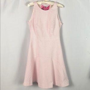 J. Crew Striped Seersucker Dress with Bow Size 2